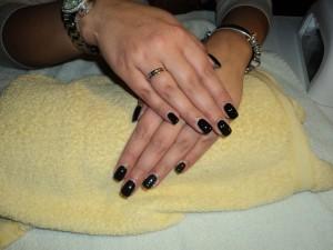 zwarte gel